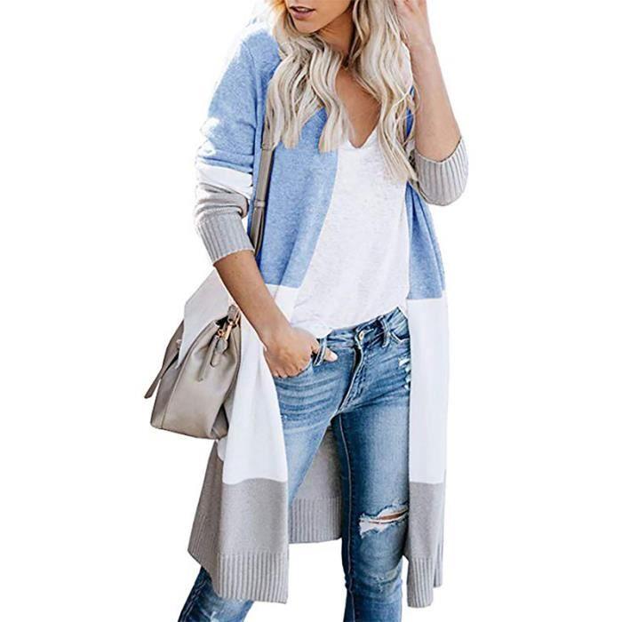 Printemps Design Tricot Pull Femme Tricoté Cardigan Femme Chandail