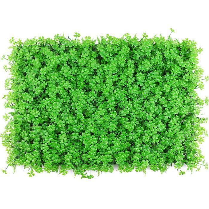 Plante artificielle Panneau de couverture artificielle mur de lierre Clôture écran Faux Herbe décorative vert Toile de fond