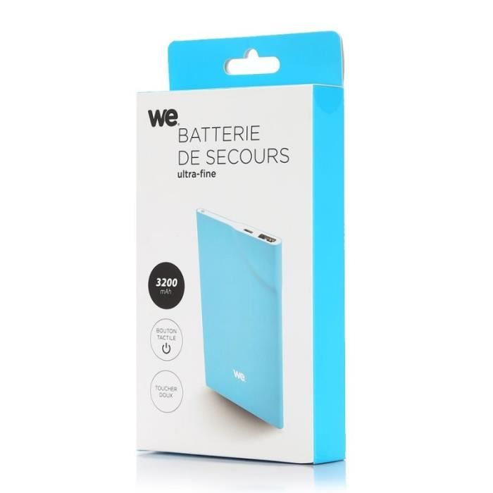WE Batterie externe 3200mAh 1 port USB 1A
