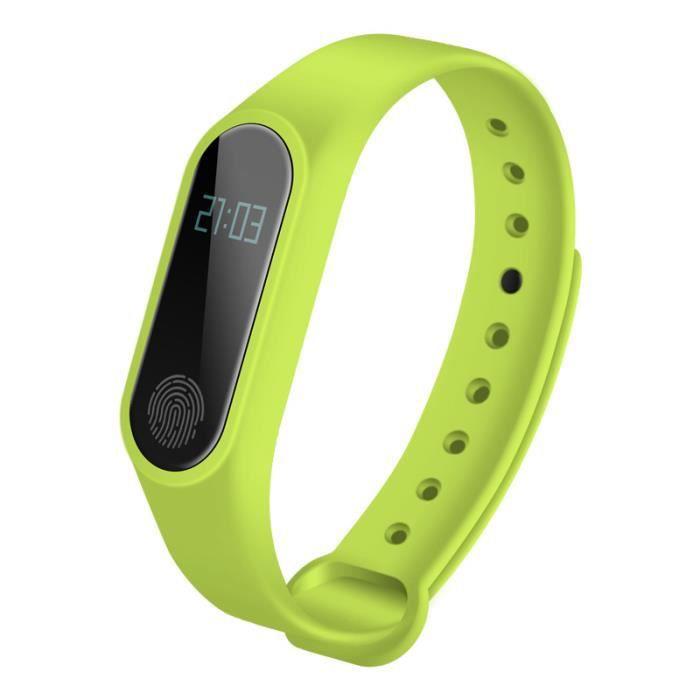 Bracelet intelligent M2 Bracelet de fréquence cardiaque Bande de sport imperméable Fitness Nombre Compteur Message Boucle intelligen