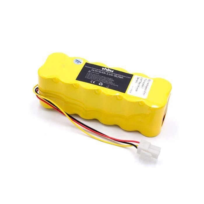 vhbw NiMH batterie 2100mAh pour robot aspirateur Samsung Navibot SR8824, SR8825, SR8828