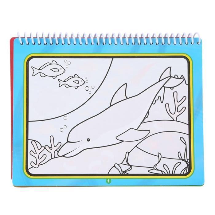 Livre De Dessin De Coloration De L Eau Magique Portable Avec Stylo Jouet Educatif De Peinture Pour Enfants N 4