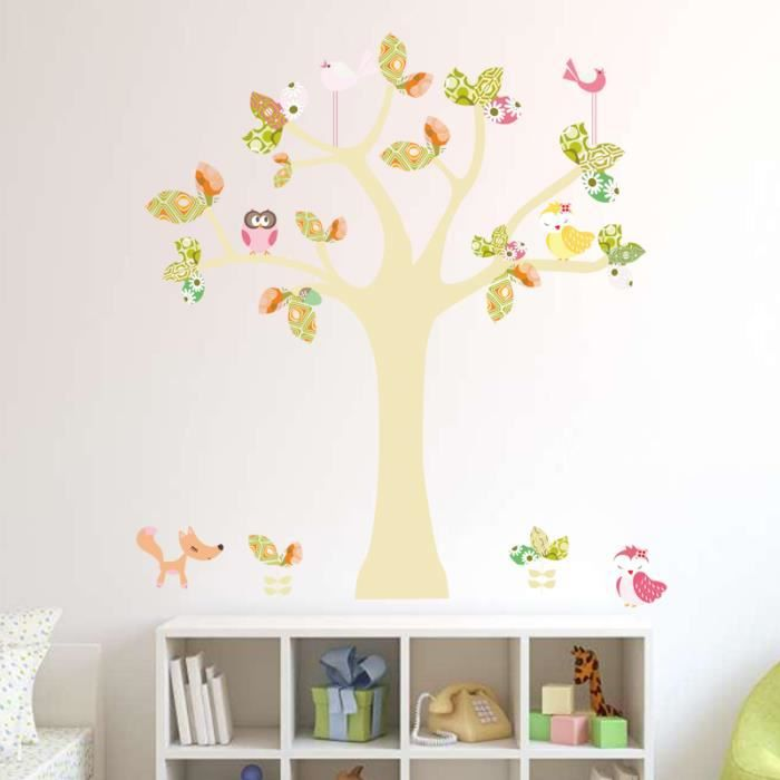 sticker arbre chambre bebe achat vente sticker arbre chambre bebe pas cher cdiscount. Black Bedroom Furniture Sets. Home Design Ideas