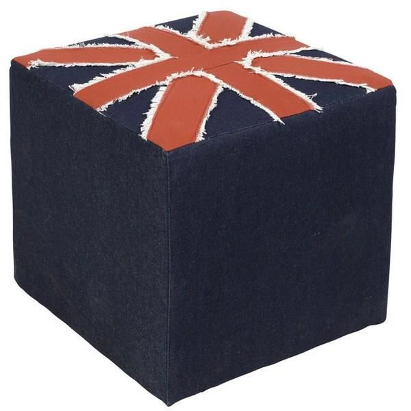 pouf carr drapeau anglais 39 london 39 achat vente pouf poire cdiscount. Black Bedroom Furniture Sets. Home Design Ideas