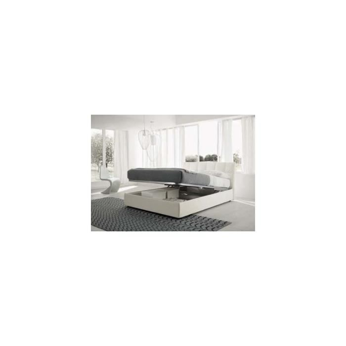 lit coffre glam 160x200 avec t te de lit rev tement. Black Bedroom Furniture Sets. Home Design Ideas
