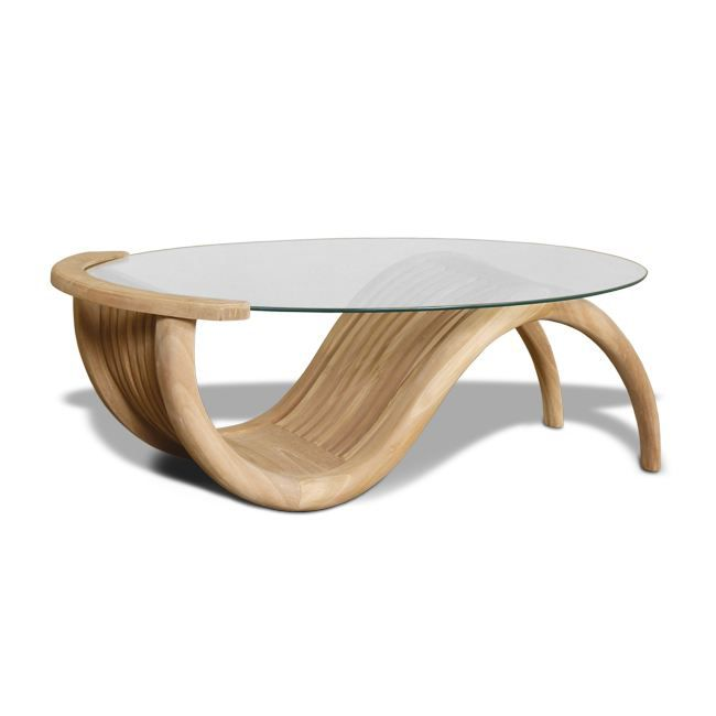 Table basse en teck plateau en verre leggy achat for Table basse scandinave plateau en verre