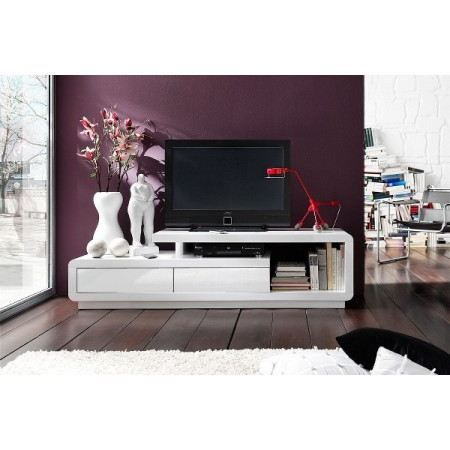 meuble tv design alice laqu blanc blanc 170 cm achat vente meuble tv meuble tv design alice. Black Bedroom Furniture Sets. Home Design Ideas
