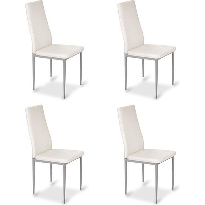 chaise blanche cuisine lot de 4 chaises de cuisine. Black Bedroom Furniture Sets. Home Design Ideas