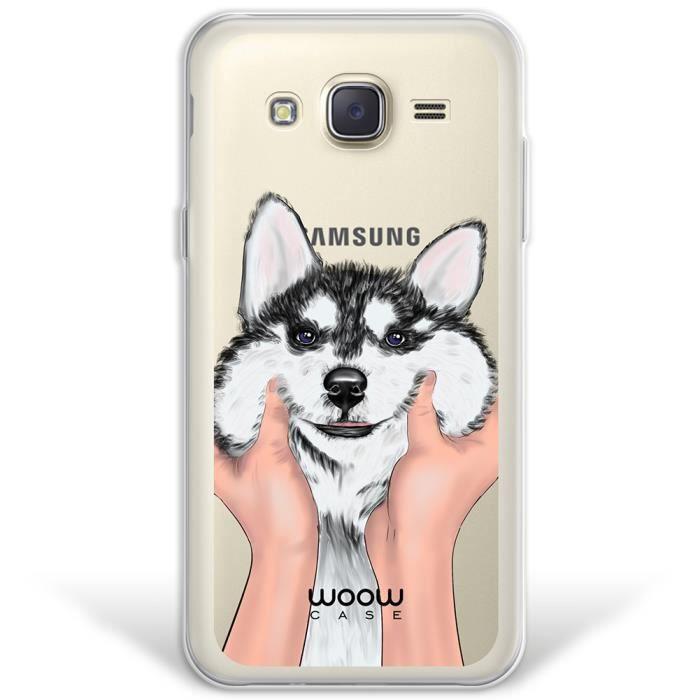 Samsung Galaxy J5 2015 Coque, WoowCase® [ Hybrid ] Chien Husky ...