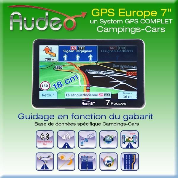 gps audeo sp cial camping cars 7 achat vente autoradio gps audeo sp cial camping c cdiscount. Black Bedroom Furniture Sets. Home Design Ideas