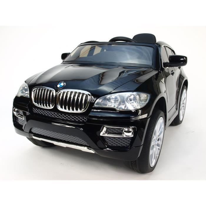 voiture lectrique pour enfant 4x4 bmw x6 noir achat. Black Bedroom Furniture Sets. Home Design Ideas