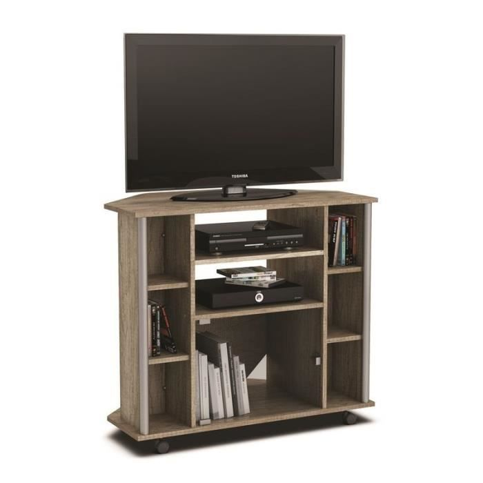 meuble tv hifi video d 39 angle score achat vente meuble tv meuble tv hifi video d 39 angl cdiscount. Black Bedroom Furniture Sets. Home Design Ideas