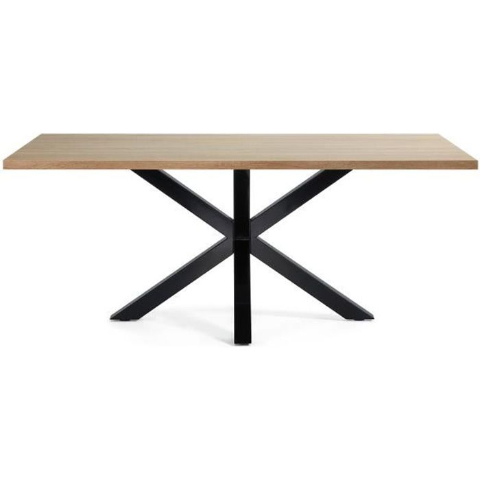 table argo epoxy noir et bois achat vente table. Black Bedroom Furniture Sets. Home Design Ideas