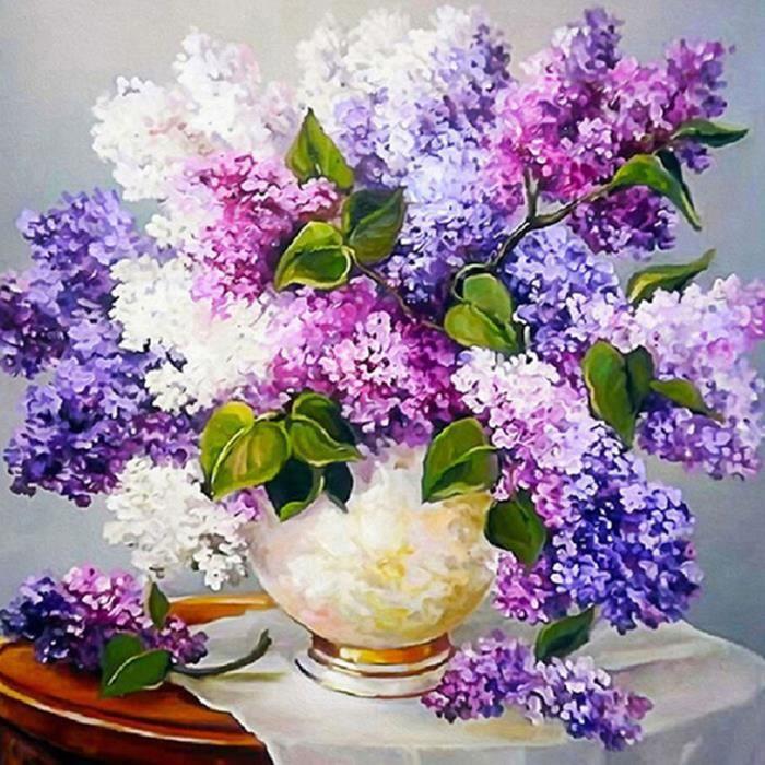 Diy 5d Diamant Peinture Lavande Grande Fleur Bouquet Fleurs Strass Broderie Pleine Forage Gem Images Mur Art Artisanat E 4 Regisi Achat Vente Fleur Artificielle Cdiscount