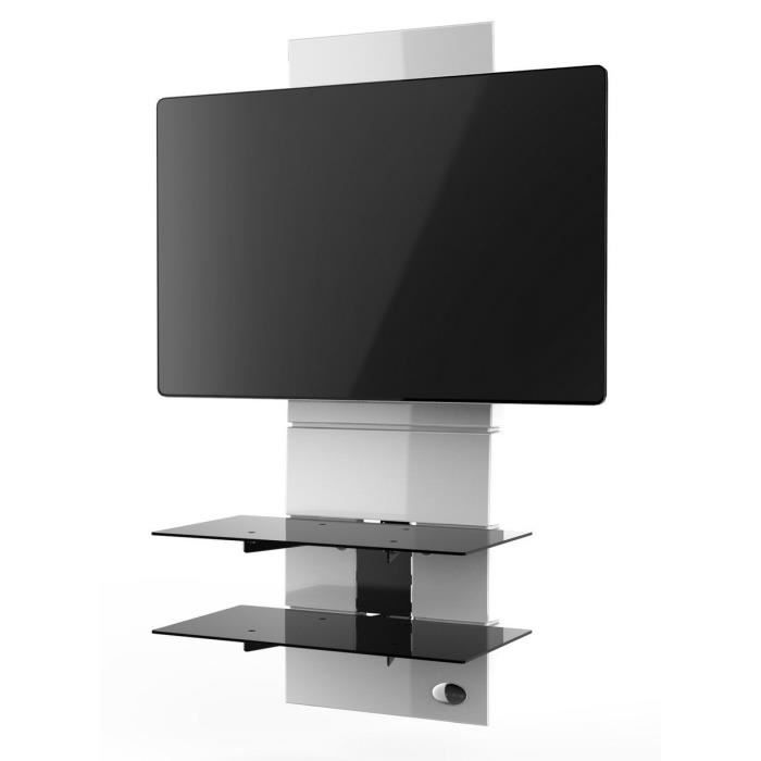 FIXATION - SUPPORT TV Meliconi Ghost Design 3000 Meuble pour TV Blanc