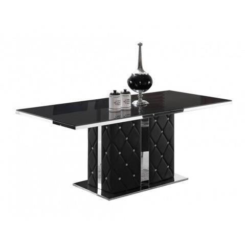 Table a manger noir laque maison design Table a manger noir