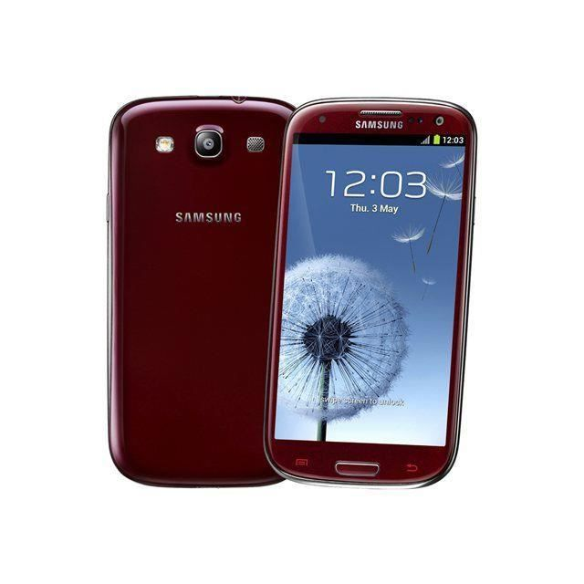samsung galaxy s3 4g rouge smartphone prix pas cher cdiscount. Black Bedroom Furniture Sets. Home Design Ideas