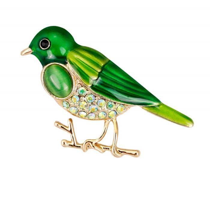 Yazilind Vert Martin-P/êcheur Broche Pins Strass Broche De Mariage Bal Broche pour Femmes Vintage V/êtements D/écoration Alliage Bijoux