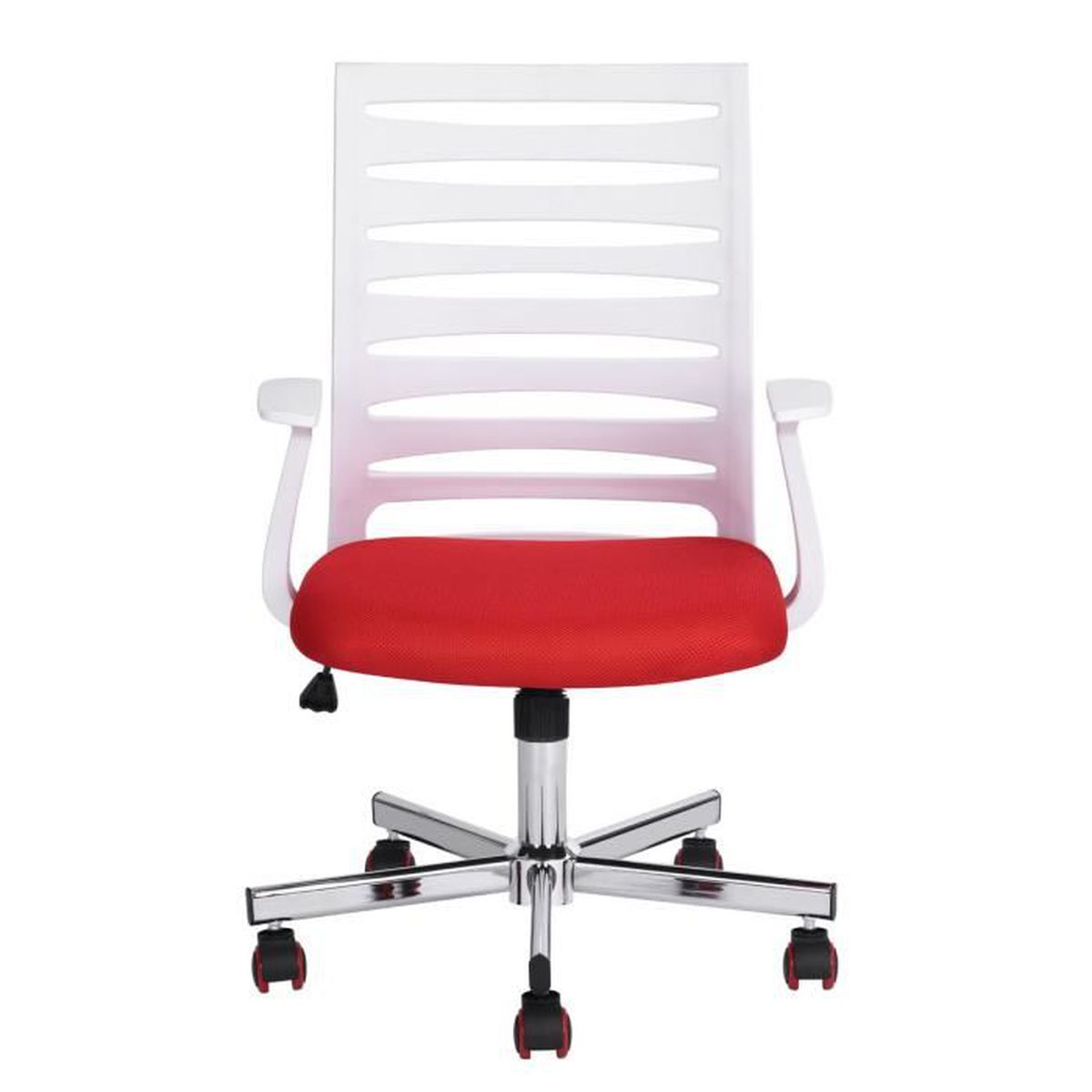 Comment Nettoyer Des Chaises En Plastique Blanc fauteuil de bureau rouge/blanc réglable roulant plastique