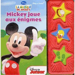 Livre 3-6 ANS Mickey joue aux énigmes