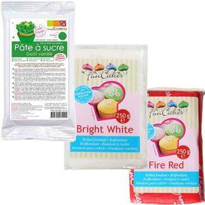 PATE A SUCRE Kit de pâte à sucre Italie - vert-blanc-rouge