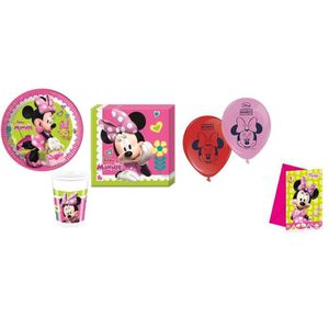 KIT DE DECORATION Super Kit Happy Minnie 50 Pièces Anniversaire Fête