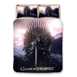 PARURE DE DRAP Game of Thrones Housse de Couette Fibre de Polyest