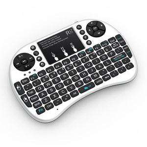 CLAVIER D'ORDINATEUR Rii Mini i8 Wireless Mini Clavier sans Fil avec To