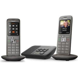 Téléphone fixe Gigaset CL660A Duo Anthracite - Téléphone DECT - P