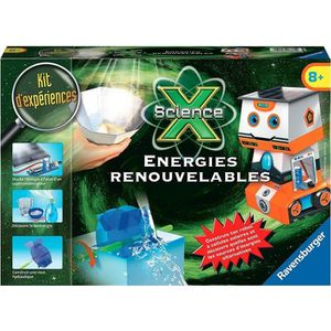 EXPÉRIENCE SCIENTIFIQUE SCIENCE X RAVENSBURGER 18860 Energies renouvables