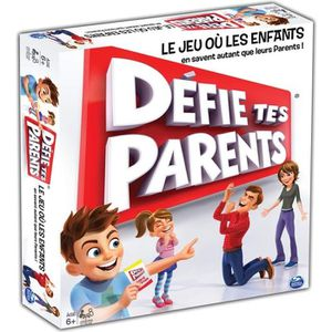 QUESTIONS - REPONSES SPIN MASTER GAMES - Défie Tes Parents - Jeu de soc