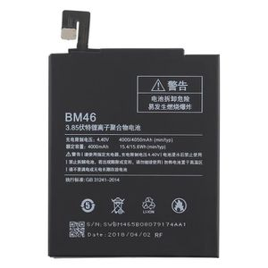 Batterie téléphone 4000mAh Li-Polymer Batterie BM46 pour Xiaomi Redmi