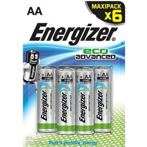 PILES ENERGIZER Lot de 6 piles LR6 Eco advanced
