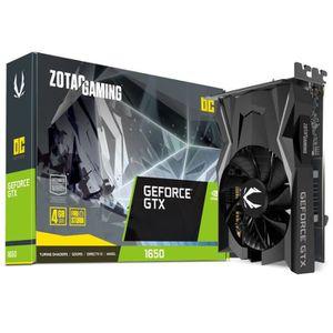 CARTE GRAPHIQUE INTERNE ZOTAC GAMING GeForce GTX 1650 OC, 4096 MB GDDR5 0,