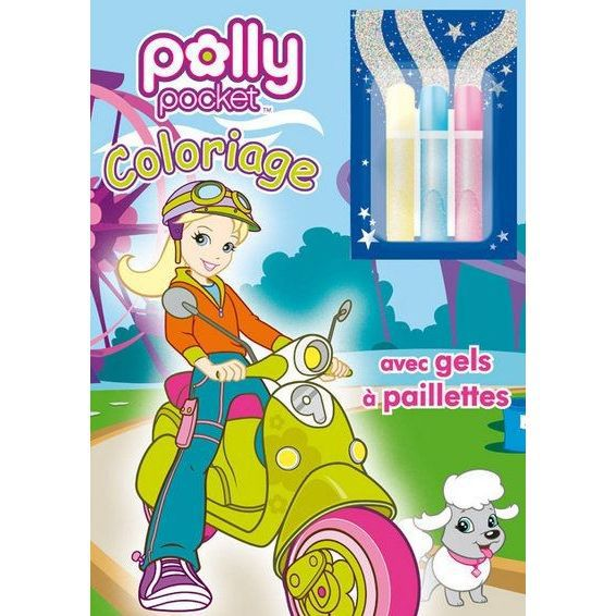 Coloriage avec gels paillettes polly pocket achat vente livre collectif hemma parution 05 - Coloriage polly pocket ...