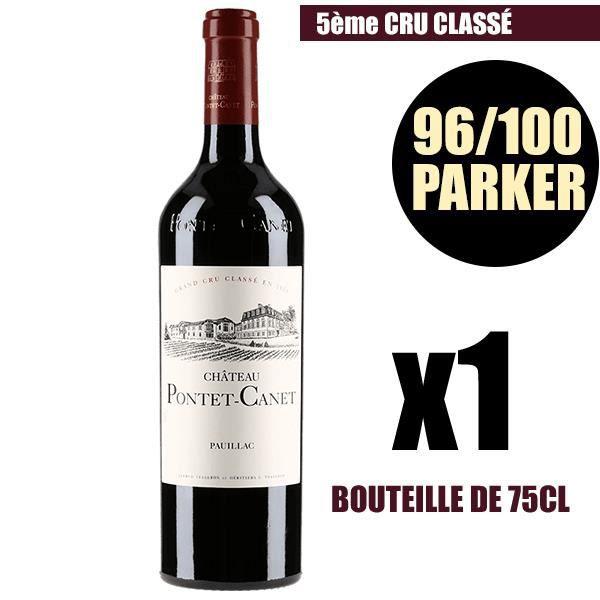 X1 Château Pontet-Canet 2015 75 cl AOC Pauillac Rouge 5ème Cru Classé Vin Rouge