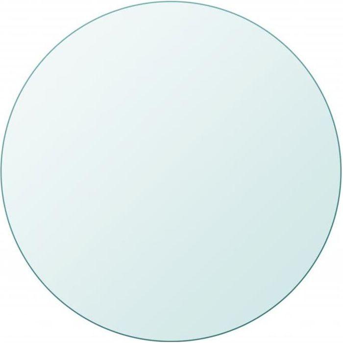 Dessus de table Plateau de table ronde en verre trempé 400 mm