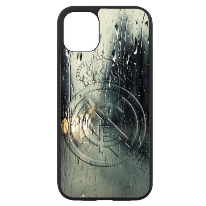coque-personnalisable® Coque pour Iphone 11 emblème Real Madrid club foot - caoutchouc contour noir (Iphone 11 - modèle real128i)