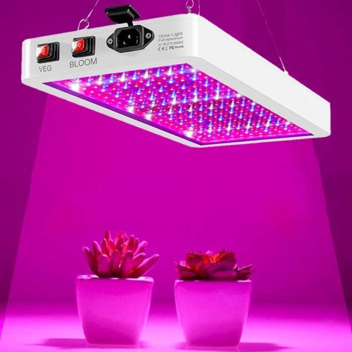 2000W Lampe Horticole LED Croissance Floraison à 312 LED,Lampe pour Plante Spectre Complet,Grow Light pour Plantes Fleurs et Légu262