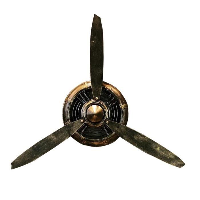 CARILLON A VENT - CARILLON EOLIEN,Hélice métallique décorative pour avion - Type B