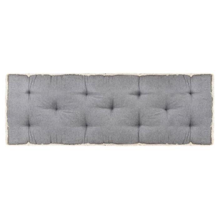 Elégant Coussin de canapé palette - Coussin extérieur Coussin de sol Grand Confort Galettes de chaise Anthracite ®VSOJOE®