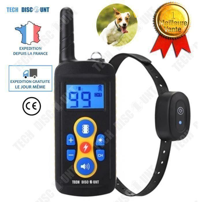BK TD® collier de dressage pour chien petite taille anti aboiement télécommande contrôle à distance chasse rechargeable étanche