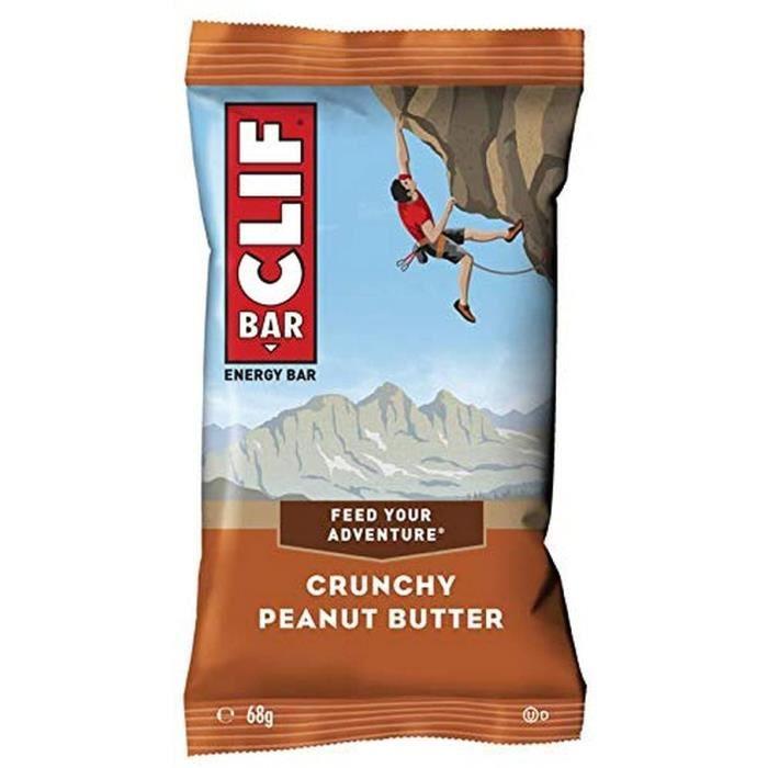12 x Clif Energy Bar 68 g Beurre de Cacahuète Croquant 50