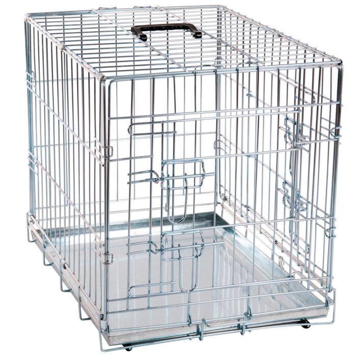 Cage pour chien métallique 2 portes L 1,09 m x l 70 cm x H 76 cm