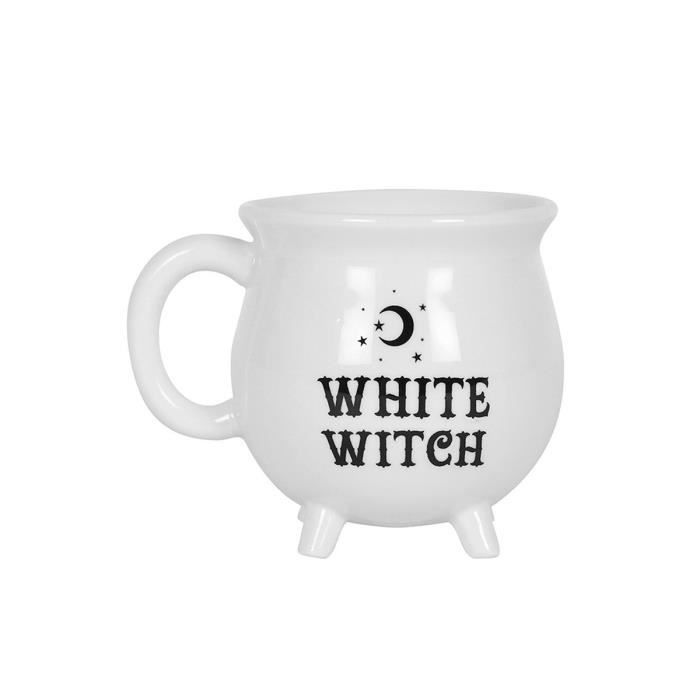 Witch Cauldron Tasse Blanc 10x10x10cm