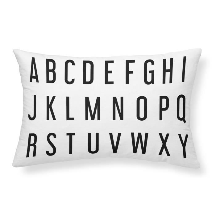 TODAY Coussin 100% coton Alphabet - 30x50 cm