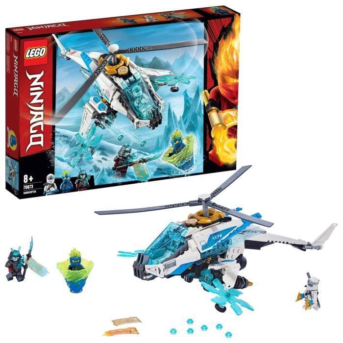 LEGO-Le ShuriCopter, Ninjago Inclus 3 Figurines Jeu pour Enfant 8 Ans et Plus Briques de Construction, 70673, Multicolore