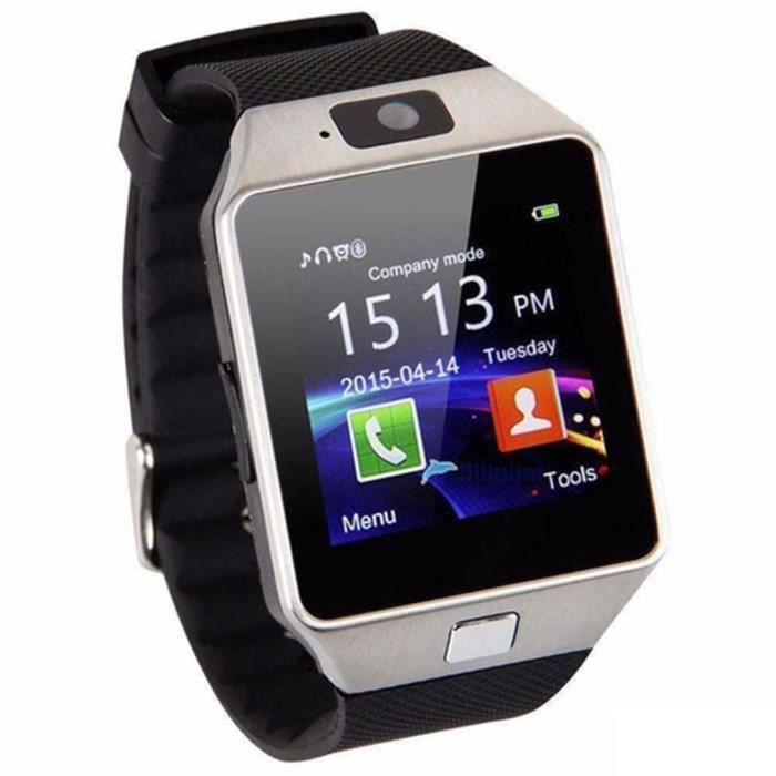Montre Intelligente avec écran Tactile coloré 1,54-, Moniteur de fréquence Cardiaque, Bracelet podomètre, social app