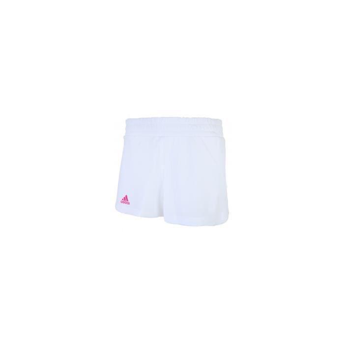 Short ADIDAS Femme Seasonal Blanc / Rose AH 2018