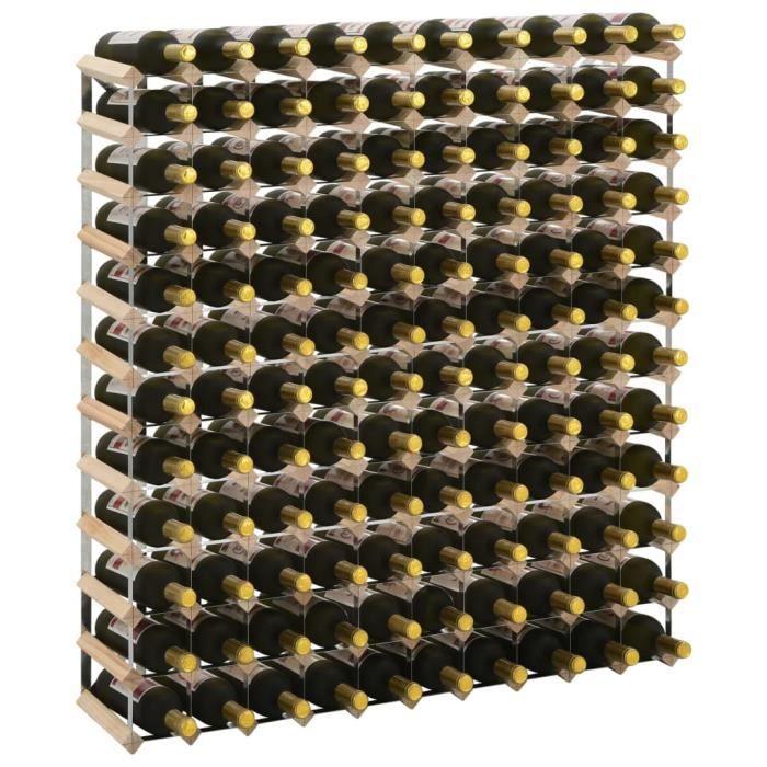 Magnfique Casier à bouteilles 120 bouteilles Pinède solide